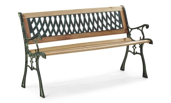 banc de jardin classique en bois fonte