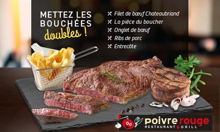 pour 1 une grillade de viande offerte pour une grillade de viande achetee chez poivre rouge