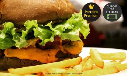 Hamburgueria Caiçara – Caiçara: 1 ou 2 hambúrgueres artesanais + bebida