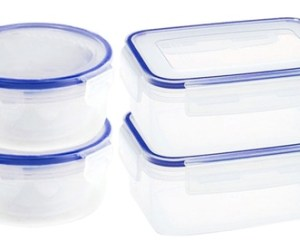 2x oder 4x PMS International Lebensmittelbehälter mit Klicksystem