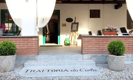 Trattoria Da Carla, 1 Forchetta Michelin   Menu con scelta alla carta più bottiglia di vino (sconto fino a 52%)