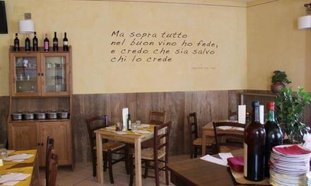 Menu mare da 3 portate con calice di vino per 2 persone allOsteria Il Pentolino (sconto fino a 68%)