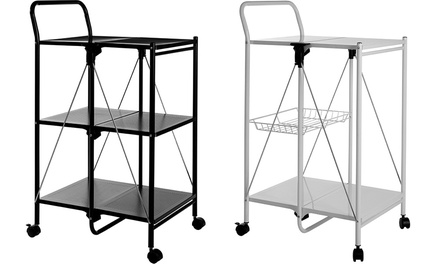 49 Off Folding Kitchen Trolley Groupon