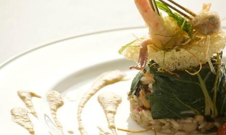 Esclusivo menu di pesce con calice o bottiglia di vino per 2 o 4 persone da Ristorante Myosotis (sconto fino a 72%)