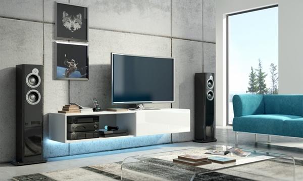 meuble tv flottant brillant ou mat a 129 99 livraison offerte 48 de reduction