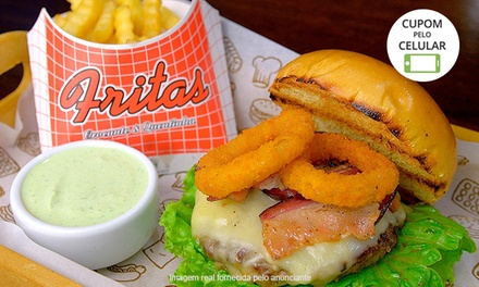 Siri Bar & Grill   Perdizes: hambúrguer artesanal   monte seu hambúrguer (opção com batata frita)