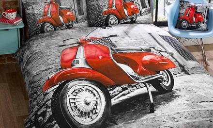 Set copripiumino e federe Rapport Scooter disponibile in 2 colori e 3 misure