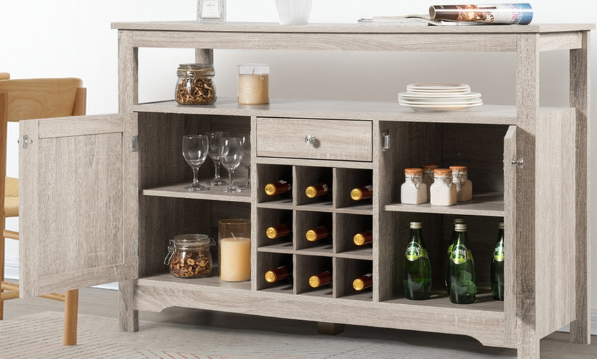 farmhouse buffet server sideboard wine cabinet or dining room console table