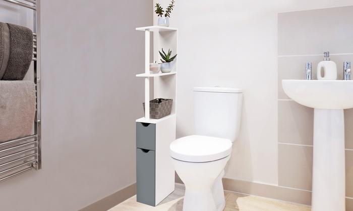 Meuble De Rangement De Toilettes Ou Salle De Bains Hauteur 118 Cm