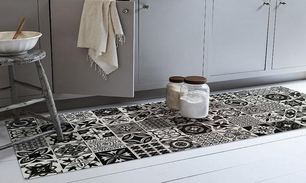 tapis effet carreaux de ciment