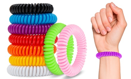 2, 3, 4, 5 of 10 anti muggen armbanden in verschillende kleuren