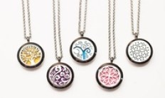 Stainless Steel Essential Oil Diffuser Necklaces