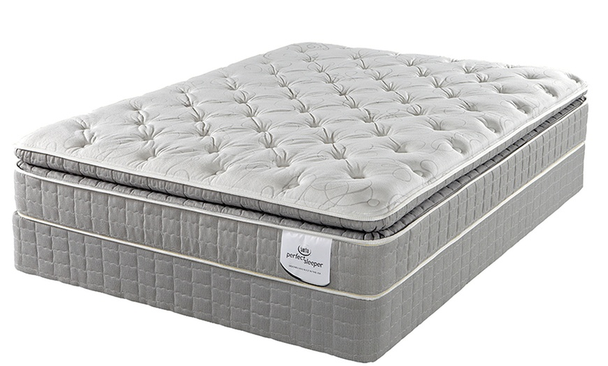 serta perfect sleeper super pillow top mattress sets with gel memory foam multiple sizes free white glove delivery