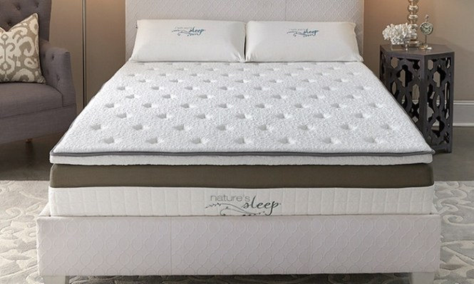 Nature S Sleep Hybrid Pillowtop Memory Foam Mattress Gel Infused