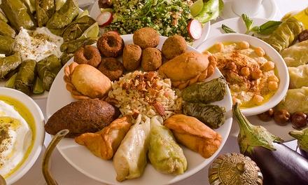 Menu libanese con 3 antipasti, piatto principale, bibita e tè per 2 o 4 persone da Fairouz (sconto fino a 61%)