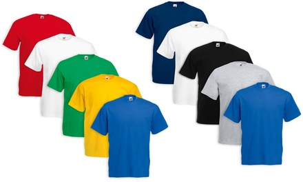 Pack da 5 T shirt Fruit of The Loom disponibili in vari colori e taglie