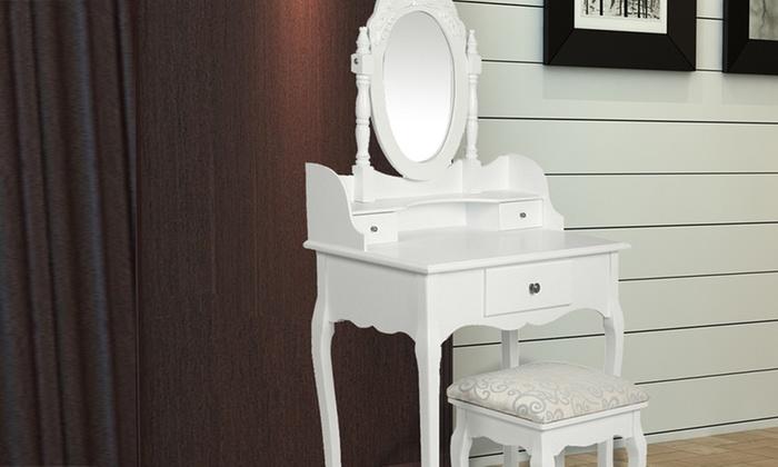 Coiffeuse Miroir Et Ou Tabouret Baroque Coloris Au Choix Des 29 95 Jusqu A 50 De Reduction