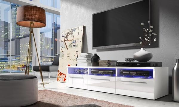 meuble tv avec led 4 modeles et 2 coloris au choix des 99 99 livraison offerte jusqu a 75 de reduction