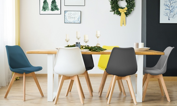 lot de 2 4 ou 6 chaises scandinaves suedia