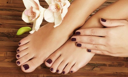 Shellac Manicure, Pedicure or Both at Anna Maria Beauty and Styling (Up to 35% Off)