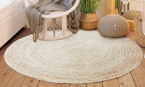 tapis rond tendance 100 jute