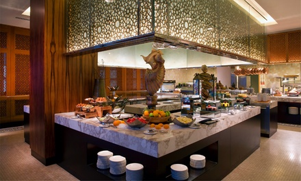 Lunch or Dinner buffet with free flowing beverages at 5* Bab Al Qasr Hotel (up to 55% off)
