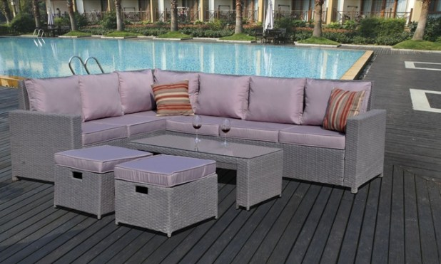 rattan sofa set groupon