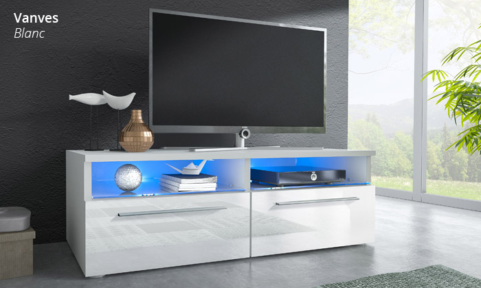 meuble tv avec led 4 modeles et 2 coloris au choix des 149 99 livraison offerte jusqu a 62 de reduction