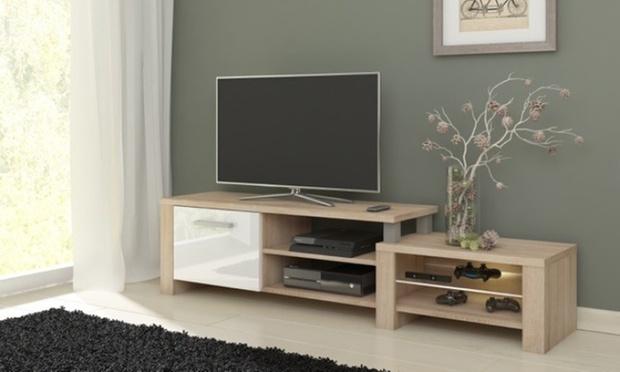Meuble TV Laqu Ou LED Groupon Shopping
