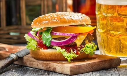 Menu hamburger con birra, antipasto e dolce al ristorante Marinis American Diner (sconto fino a 70%)