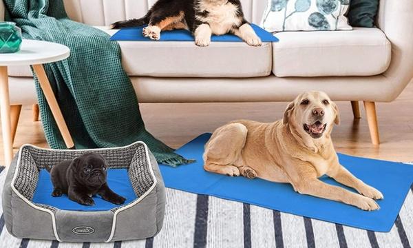 tapis differentes tailles pour chien chat avec un gel rafraichissant