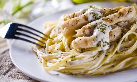Menu all you can eat pasta e uno o 2 litri di vino per 2 o 4 persone al Ritrovo del Gusto da Silvano (sconto fino a 68%)