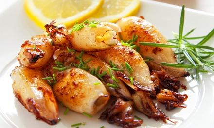 Menu à la carte con portate di carne o di pesce e un litro di vino per 2 persone da Il Galeone (sconto fino a 52%)
