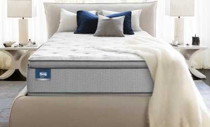 Image Placeholder For Simmons Beautysleep Sunderland Pillow Top Mattress Set Free Delivery