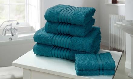 Set di 6 asciugamani Windsor in cotone disponibili in 4 colori