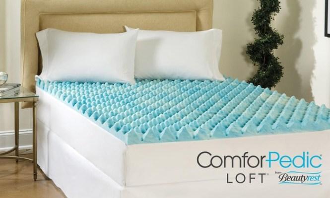 Beautyrest 1 5 Reversible Gel Memory Foam Mattress Toppers