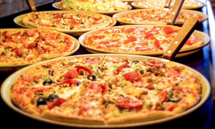 pizza buffet with drinks and ice cream for two four or six at pizza ranch up to 52 off