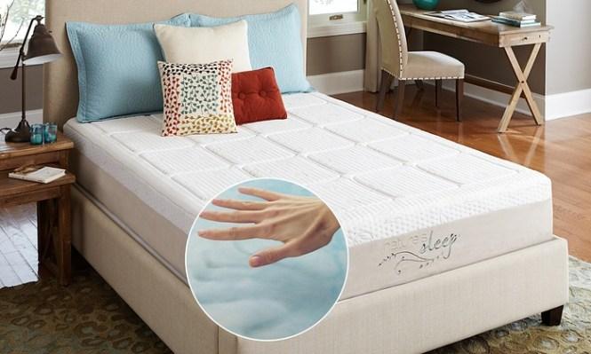 Nature S Sleep 10 5 Gel Memory Foam Mattress Pillows Optional Foundation