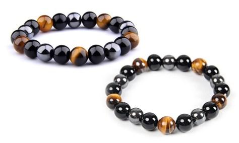 Bracelet pierres protectrices triple action