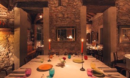 Menu della tradizione fino a 4 portate con vino, Alla Corte Lombarda 2 forchette Michelin (sconto fino a 66%)