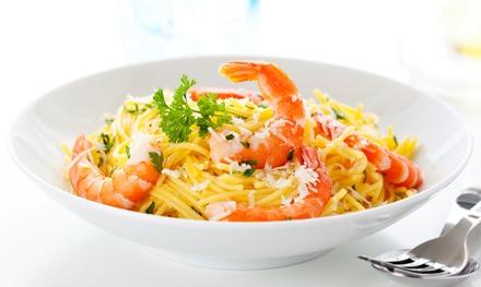 Menu pesce con 1 o 2 kg di zuppa, fritto misto più bottiglie di vino al ristorante La Veranda, Erba (sconto fino a 58%)