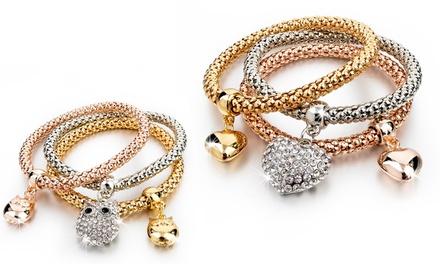 1 o 2 set da 3 bracciali Be Jewels con cristalli Swarovski® disponibili in vari modelli