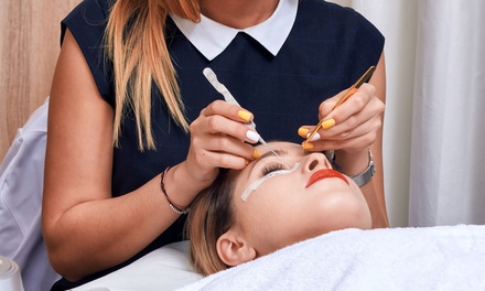 Full Set of Individual Eyelash Extensions with Optional Eyebrow Shaping at Mirrors Beauty Lounge