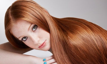 Keratin Treatment, or Blow Dry with Cut, Colour or Treatment at Embellish by Diya (Up to 65% Off*)