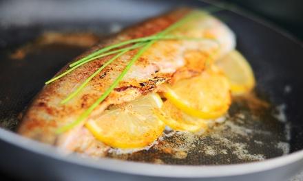 Cena di pesce da 4 portate e calice di vino per 2 o 4 persone alllOsteria Rewine Io e Tu (sconto fino a 63%)