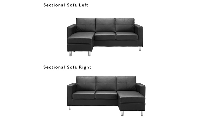 dorel living small spaces configurable sectional sofa black