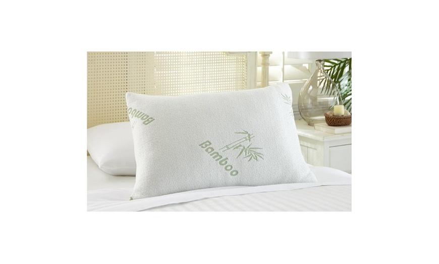 bamboo memory foam pillows 1 or 2 pack