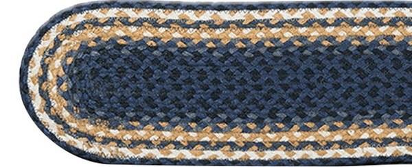 Earth Rugs C 079 Light Dark Blue Mustard Stair Treads Oval 27 | Earth Rugs Stair Treads | Natural Jute | Burgundy Mustard | Non Slip | Area Rugs | Mats Rugs