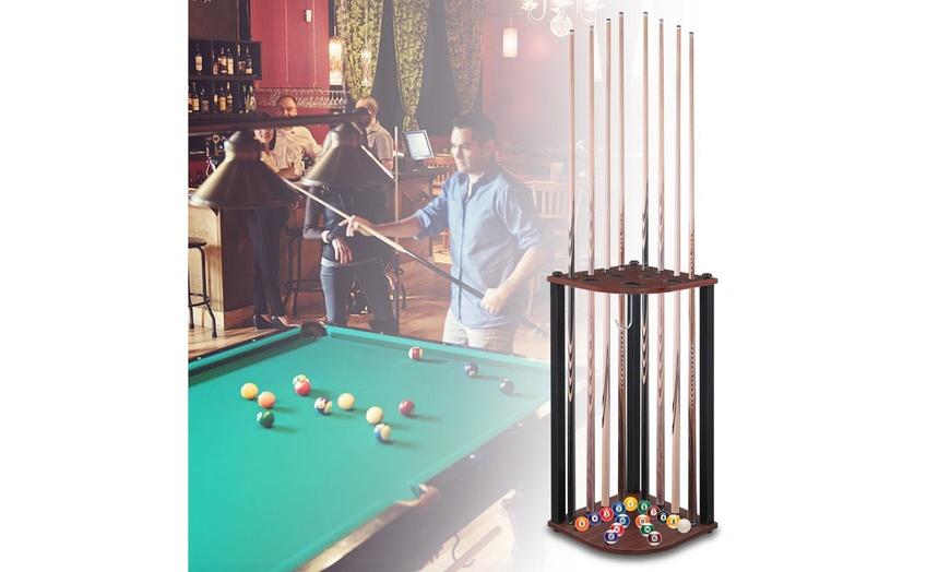 8 pool cue billiard stick floor rack and holder