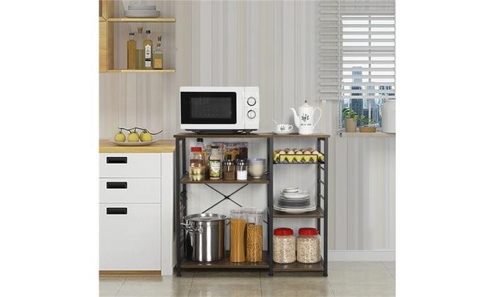 3 tier microwave oven cart bakers rack